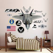 Fathead United States Air Force F 22 Raptor Peel And Stick Wall Decal Wayfair