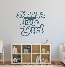 Daddy S Little Girl Wall Decal Dad And Daughter Vinyl Art Etsy