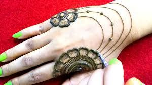 easy jewellery mehndi design for beginners