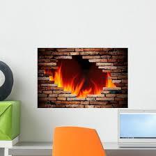Hole Wall And Fire Wall Decal Wallmonkeys Com