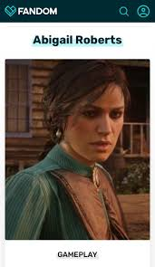 Abigail Roberts according to the RDR2 community wiki ...