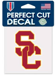 Amazon Com Usc Trojans Official 4 X4 Ncaa Car Decal Sports Fan Decals Sports Outdoors