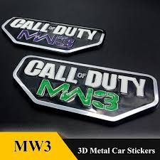 3d Metal Call Of Duty Mw3 Emblem Badge Stickers Car Styling For Jeep Wrangler Liberty Grand Cherokee Phev Patriot Compass Dodge Car Stickers Aliexpress