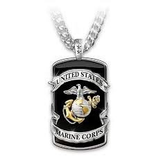 marine corps pride stainless steel dog