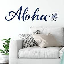 Amazon Com Aloha Hibiscus Flower Hawaiian Theme Vinyl Wall Decal By Wild Eyes Signs Tropical Flower Room Surfing Theme Tropical Beach Teen Room Wall Decor Removable Vinyl Decal Ct4604 Handmade