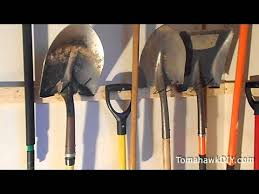 organize garage hang tools for