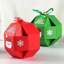 10 Uds Santa Claus Navidad Cajas De Papel Para Dulces Portador De