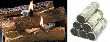 money to burn fire starters