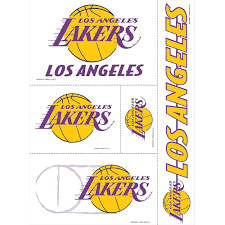 Los Angeles Lakers Decals 5ct Party City