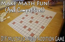 easy diy math game multiplication or