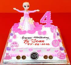 Bánh sinh nhật búp bê Elsa TR185010 - Bánh Kem Cẩm Châu - Bánh Kem Cẩm Châu