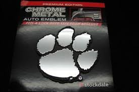 Clemson Tigers Auto Emblem Sticker Decal Premium Heavy Duty Chrome Metal Ebay