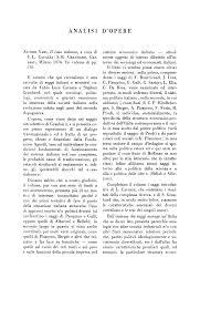 AN AL IS I D'OPERE II volume che qui recensiamo e una rata da Fabio Luca  Cavazza e Stephen Graubard, nel quale sociologi, polito