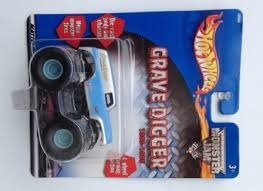 Grave Digger 83 85 Monster Jam Truck Blue Silver W Decals Rare Short Card All Diecast Body Chassis Hotwheels Monster Jam 1 64 Scale Diecast Collection Rare Vintage 2001 Now And Then Collectibles