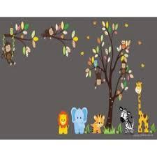 Nursery Wall Decals Nursery Wall Art Baby Wall Decals Nursery Interior Design Safari And Jungle Themed Lion Monkey Blue Elephant