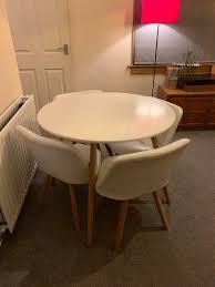 space saving dining table white 4
