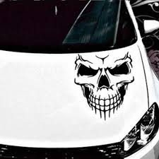 Large Size 40x36cm Skull Head Car Stickers And Decals Reflective Vinyl Car Styling Auto Engine Hood Door Window Car Decal Car Stickers Aliexpress