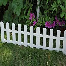 Amazon Com Picket Fence Edging Small Picket Fence Garden Outdoor
