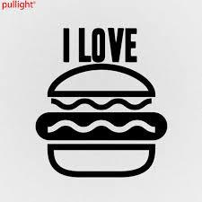 Car Styling I Love Burgers Funny Car Van Window Laptop Wall Bumper Vinyl Decal Sticker Aliexpress