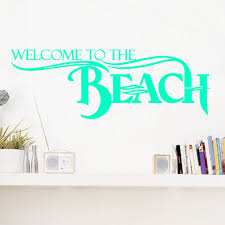 Welcome To The Beach Entryway Wall Decals And Stickers