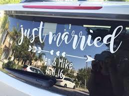 Diy Just Married Window Cling Diy Weddings