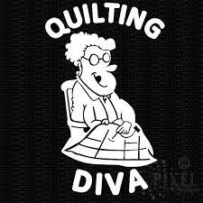 Quilting Diva Vinyl Decal Pixelboutique