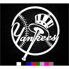 Ny Yankees Sticker Mlb Baseball Sport Logo Wall Or Car Decal Various C Mymonkeysticker Com