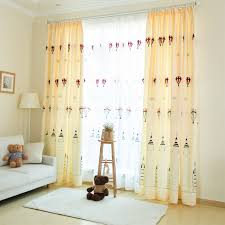 Beige Hot Air Balloon Curtains Castle For Nursery Kids Room Blackout Thermal