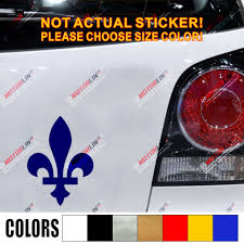 Quebec Fleur De Lys Decal Sticker Flag Canada Car Vinyl Pick Size Color Die Cut No Background Car Stickers Aliexpress