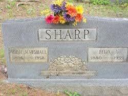 Addie Mae Marshall Sharp (1896-1958) - Find A Grave Memorial