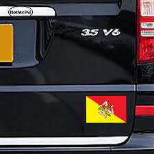 Hotmeini Car Styling Sicilia Sicily Flag Car Sticker Italia Italy Laptop Tablet Locker Door Waterproof Accessories 13cmx8 8cm Car Stickers Aliexpress