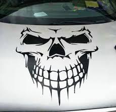 Fashion Skull Hood Decal Vinyl Large Graphic Sticker Car Truck Tailgate Window Wish