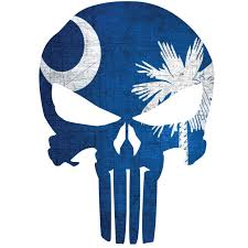 South Carolina Flag Punisher Skull Window Decal Police Fire Ems Viny Graphics Stickers Decals Dkedecals