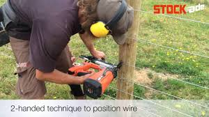 Stockade St400i Fencing Stapler Fixing Plain Wire In Nz Youtube