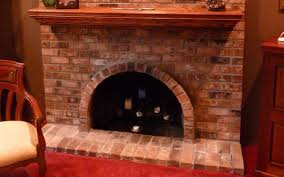 turning arched fireplace opening to