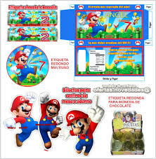 Kit Imprimible Mario Bros Cotillon Invitaciones Cumpleanos