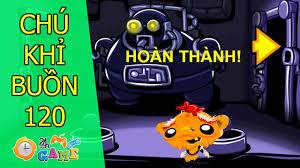 Game Chú khỉ buồn 120 - Giải cứu người máy khổng lồ