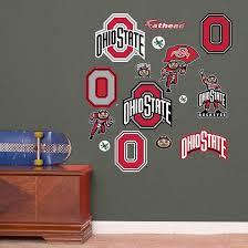 Ohio State Buckeyes Team Logo Assortment Wall Decal Shop Fathead For Ohio State Buckeyes Wall Graphi Ohio State Bedroom Ohio State Rooms Ohio State Decals