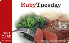 ruby tuesday gift cards at a