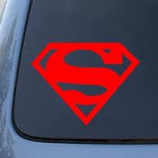 Amazon Com Ih8bj Superman Large 8 Red Super Man S Vinyl Car Decal Sticker Automotive