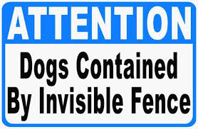 Dogs Contained By Invisible Fence Print Yellow Black Poster Outside Yard 12x18 For Sale Online Ebay