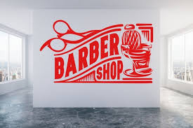 Barber Shop Wall Window Shop Art Vinyl Decal Sticker Etsy