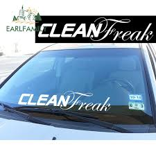 Earlfamily 74cm X 10 16cm Clean Freak Windshield Banner Jdm Low Car Decal Sticker Oem Funny Car Styling Car Accessories Car Stickers Aliexpress