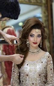 glamorous bridal makeup and hairstyle