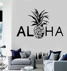 Vinyl Wall Decal Aloha Pineapple Hawaii Hawaiian Stickers Murals Ig4699 Ebay