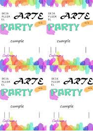 Invitaciones Para Una Fiesta Tematica Arte Mamiclic