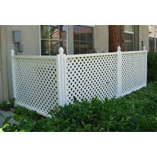 Snapfence 3 Ft H X 4 Ft W White Modular Vinyl Lattice Fence Panel 4 Pack Vflp 1 The Home Depot Lattice Fence Panels Lattice Fence Fence Panels