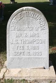 Myrtle Thompson Gravestone, Forest Grove Cemetery