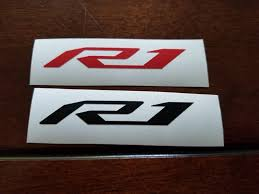 Yamaha R1 Logo Sticker Motorcycle Truck Car Vinyl Decal Many Etsy