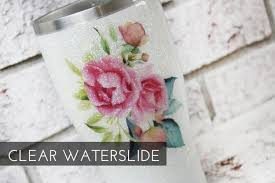 Pink Rose Waterslide Decals Glitter Tumbler Decals Ready To Etsy Tumbler Decal Glitter Tumbler Floral Decal